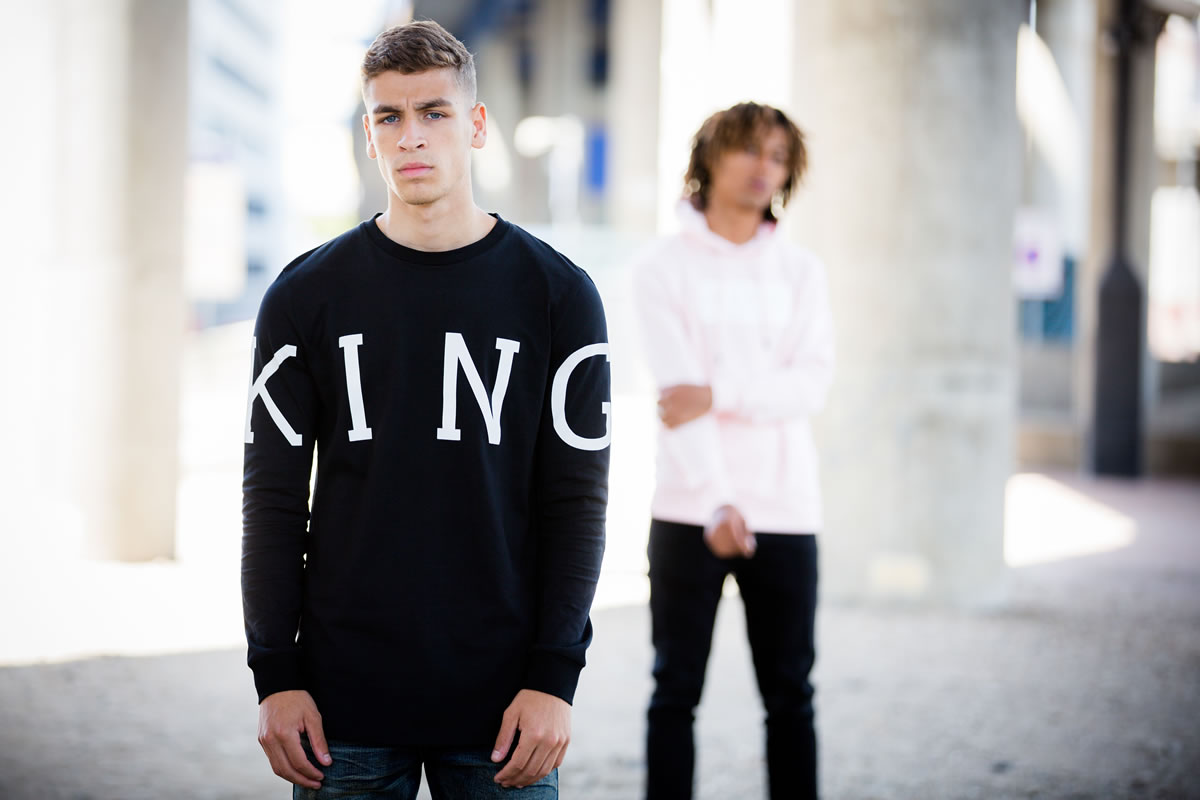 Models wearing SS18 King Apparel clothing