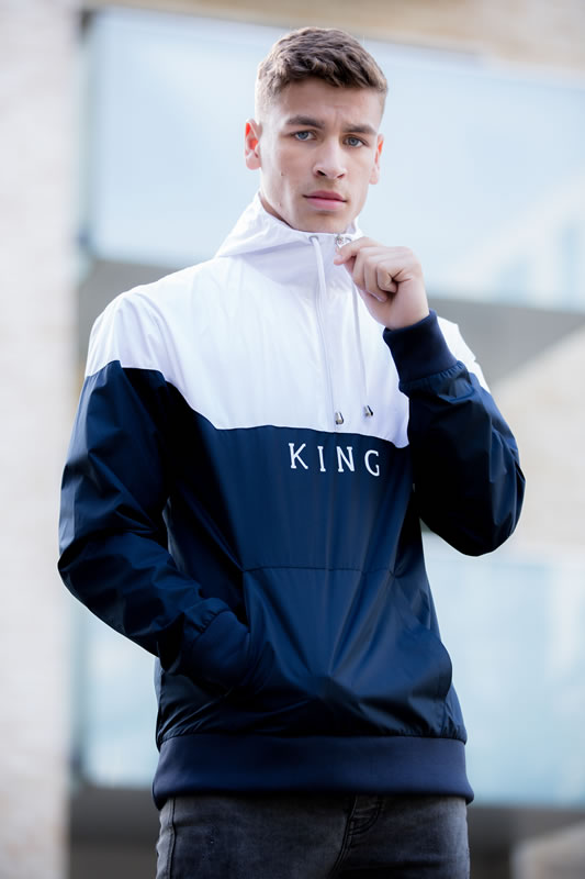 Model wearing black SS18 King Apparel jacket