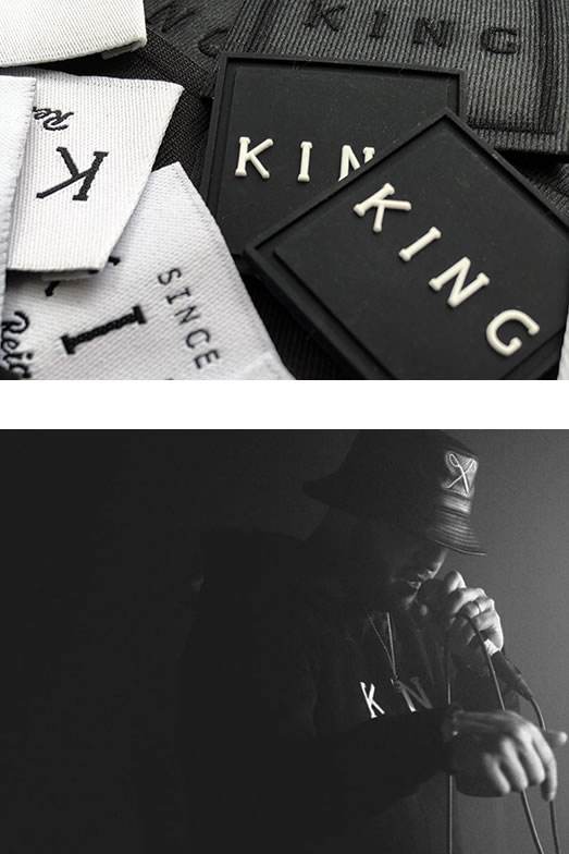 King Apparel labels and emcee