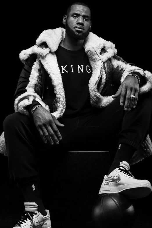King Apparel Lebron James photoshoot