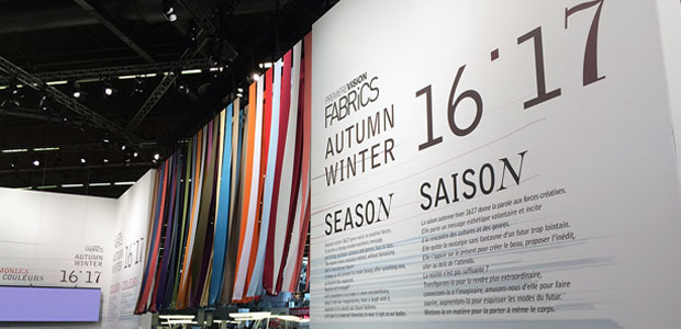 Sourcing fabrics at the Premiere Vision show in Paris