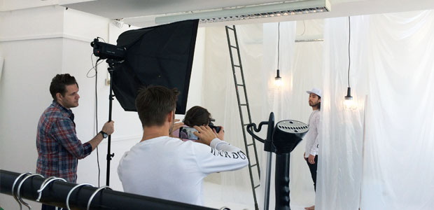 Behind the scenes of the King Apparel AW15 lookbook shoot