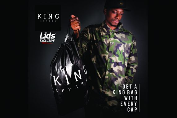 Free KING bag when you shop at LIDS
