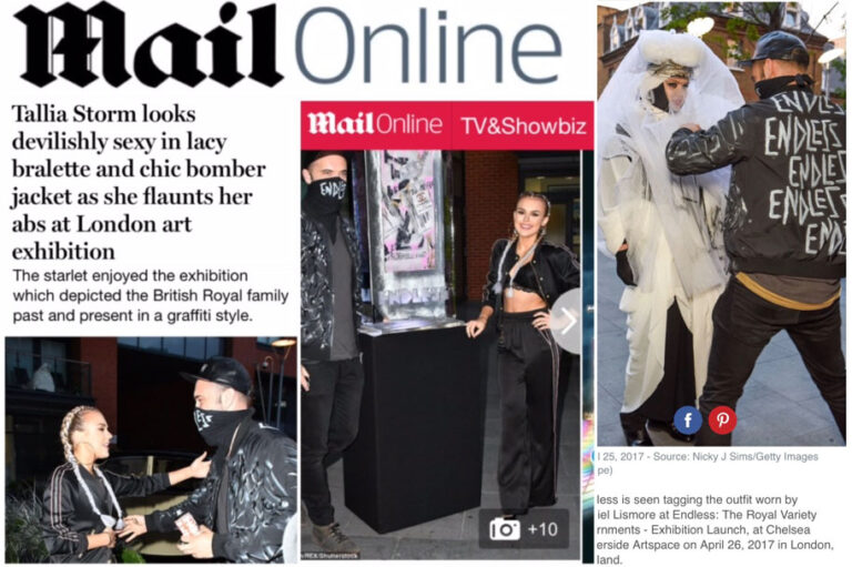Endless Artists wears Tech Bomber in The Daily Mail
