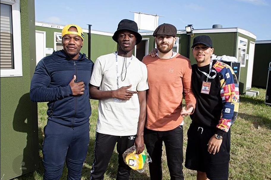 Rudimental backstage in KING