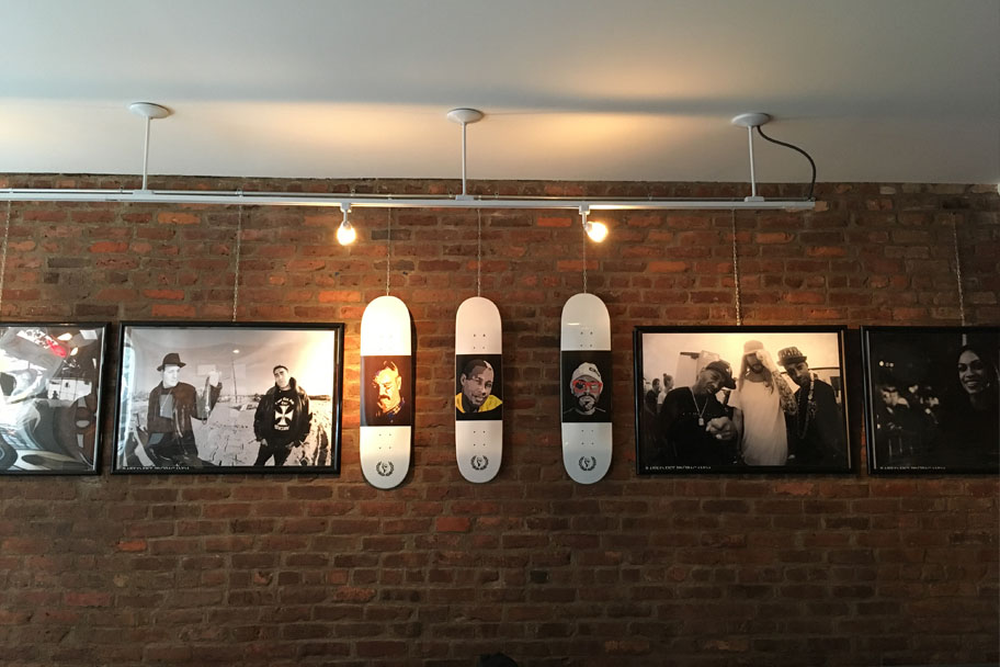 Raised Fist tribute skateboards to New York's OG's