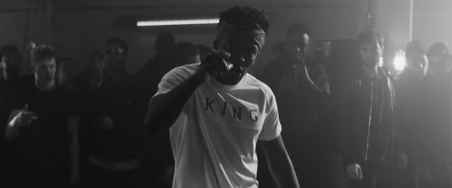 KSI wears KING in Uncontrollable video