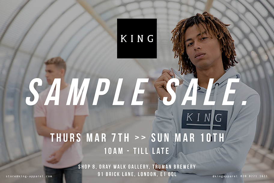 KING sample sale