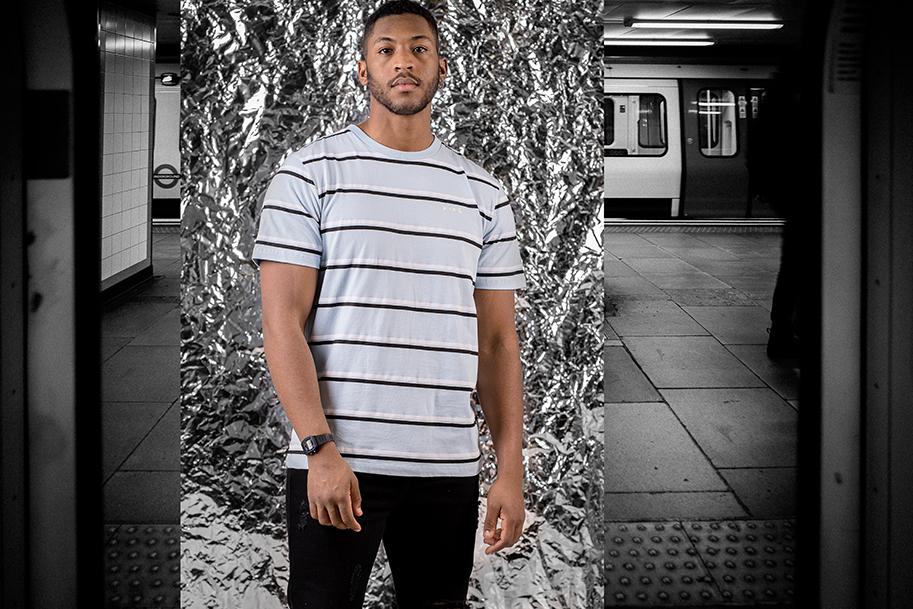 Aldgate Striped T-shirt Sky Blue