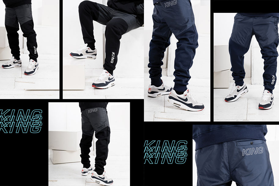 Dalston tracksuit pants black and navy