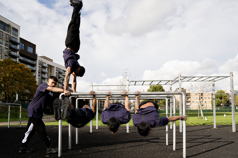Langdon Park Street Bars workout